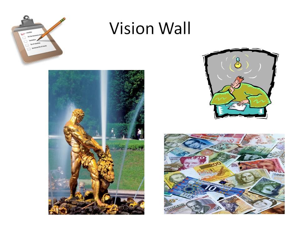 Meine erste Vision Wall, um meine Ziele plastisch zu visualisieren.