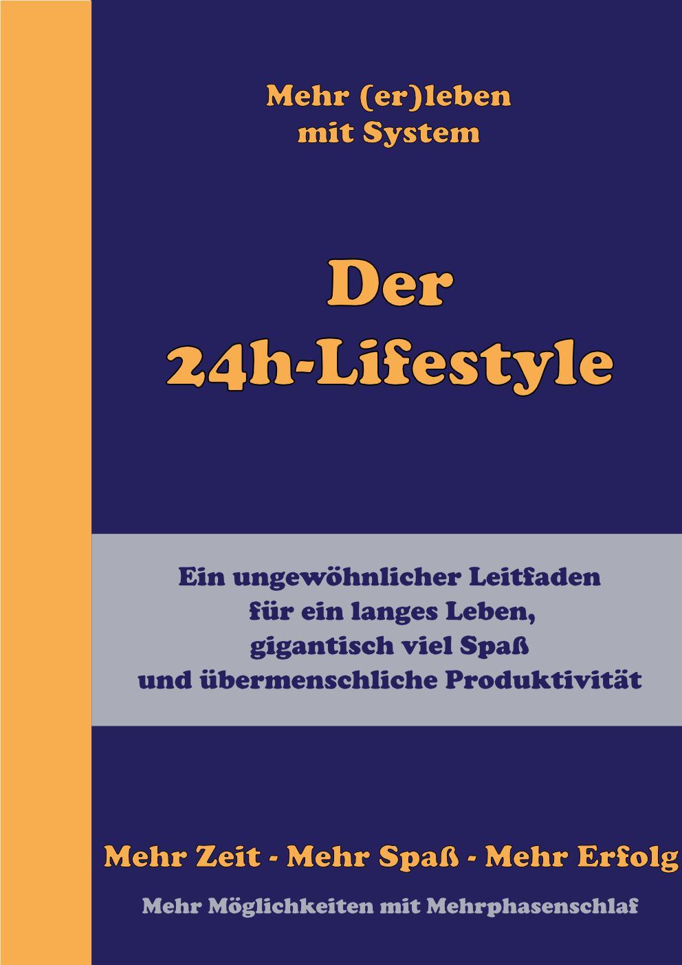 Der Der 24h-Lifestyle ist eine Art zu leben, bei der Du durch den konsequenten Einsatz verschiedener Methoden und Techniken und durch Mehrphasenschlaf zu viel mehr Zeit und Energie für Projekte und Hobbies gelangst. Und dadurch zu mehr Erfolg, Zufriedenheit und Glück.