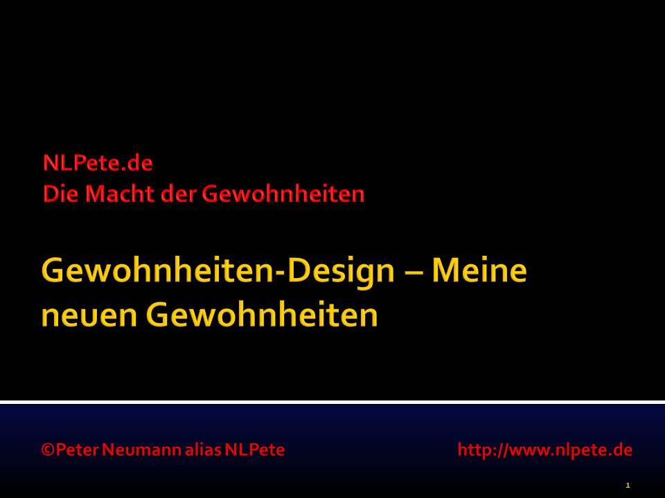 Gewohnheiten-Design - Meine neuen Gewohnheiten - Titelbild
