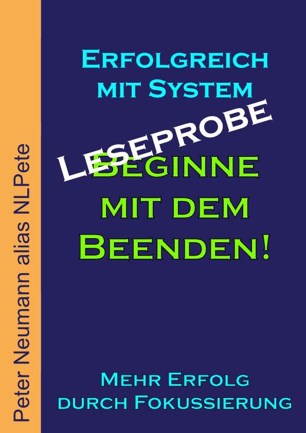 Cover - eBook - Beginne mit dem Beenden! - Leseprobe - V1.0 - 72 DPI